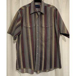 Vintage Wrangler Short Sleeve Button Up Shirt 17.5